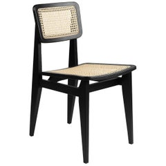 C Chair Dining Chair, French Cane, Black Stained Oak