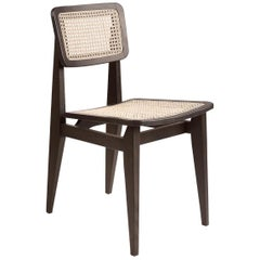 C-Chair Dining Chair, French Cane, Brown Stained Oak