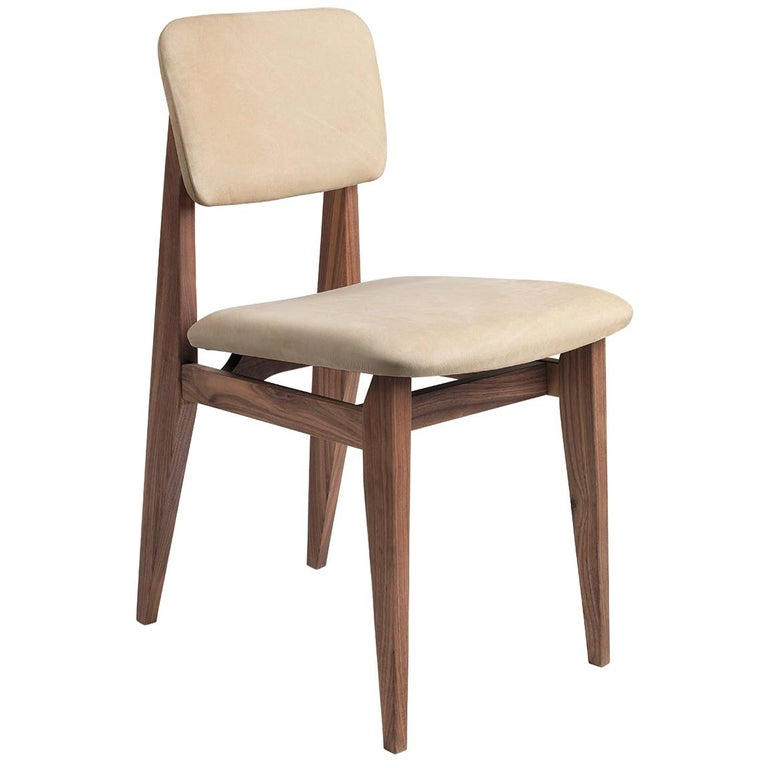 C-Chair Dining Chair, Fully Upholstered, American Walnut For Sale