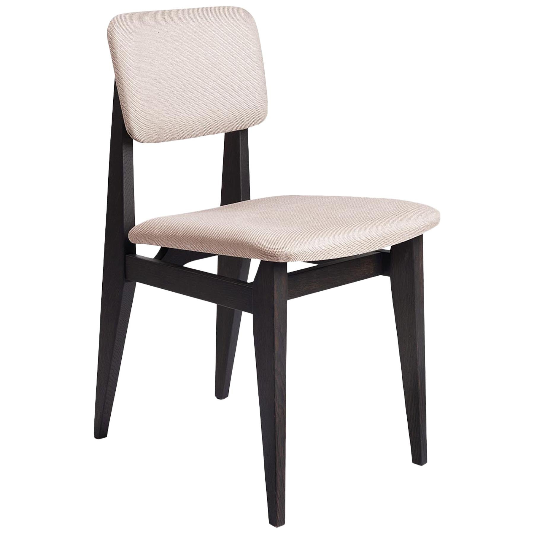 C Chair Dining Chair, Fully Upholstered, Brown Stained Oak