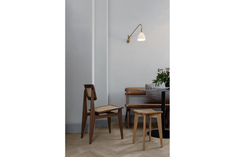 Danish C Chair Dining Chair, Fully Upholstered, Natural Oak For Sale