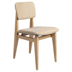 C Chair Dining Chair, Fully Upholstered, Natural Oak