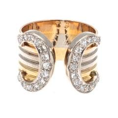 C De Cartier Diamond Gold Ring