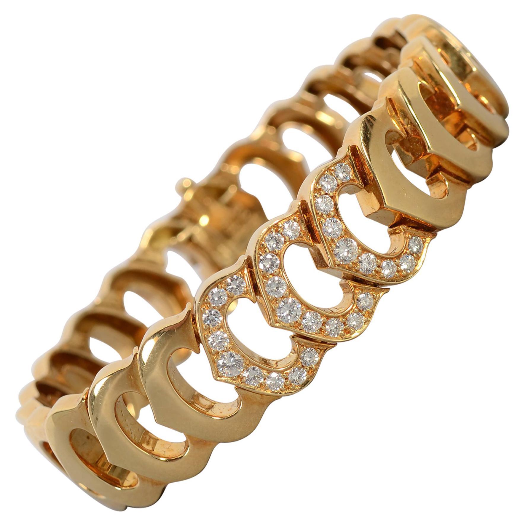 C de Cartier Gold Bracelet with Diamonds