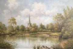 St. Mary's Church, Attenborough, British Oil Painting