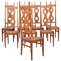 C F A Voysey Arts & Crafts Oak Dining Chairs Set of Eight by Liberty & Co, 1930