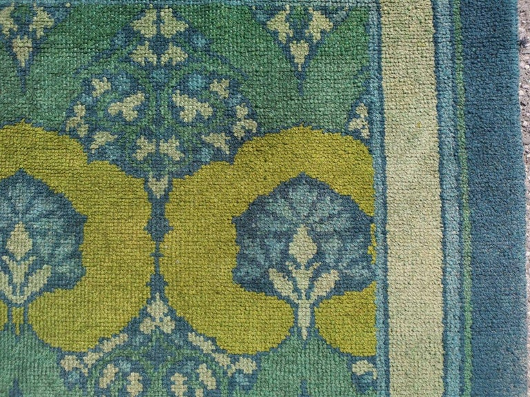 C F A Voysey for Liberty & Co. a Rare 'Glenmure' Donegal Rug with Rich Colors For Sale 2