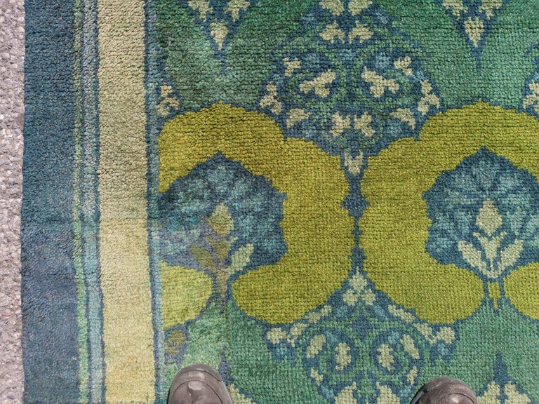 C F A Voysey for Liberty & Co. a Rare 'Glenmure' Donegal Rug with Rich Colors For Sale 3