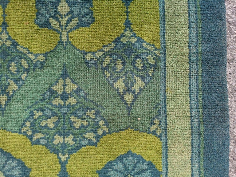C F A Voysey for Liberty & Co. a Rare 'Glenmure' Donegal Rug with Rich Colors For Sale 4