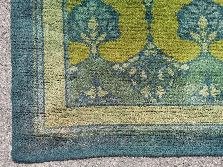 C F A Voysey for Liberty & Co. a Rare 'Glenmure' Donegal Rug with Rich Colors For Sale 5