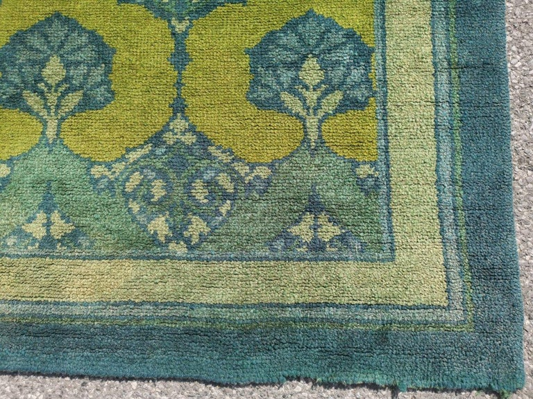 C F A Voysey for Liberty & Co. a Rare 'Glenmure' Donegal Rug with Rich Colors For Sale 6