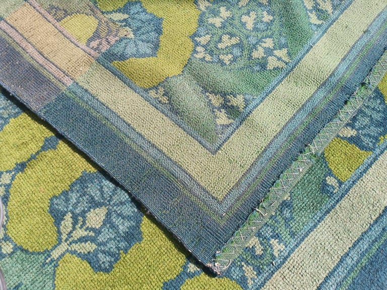 C F A Voysey for Liberty & Co. a Rare 'Glenmure' Donegal Rug with Rich Colors For Sale 7