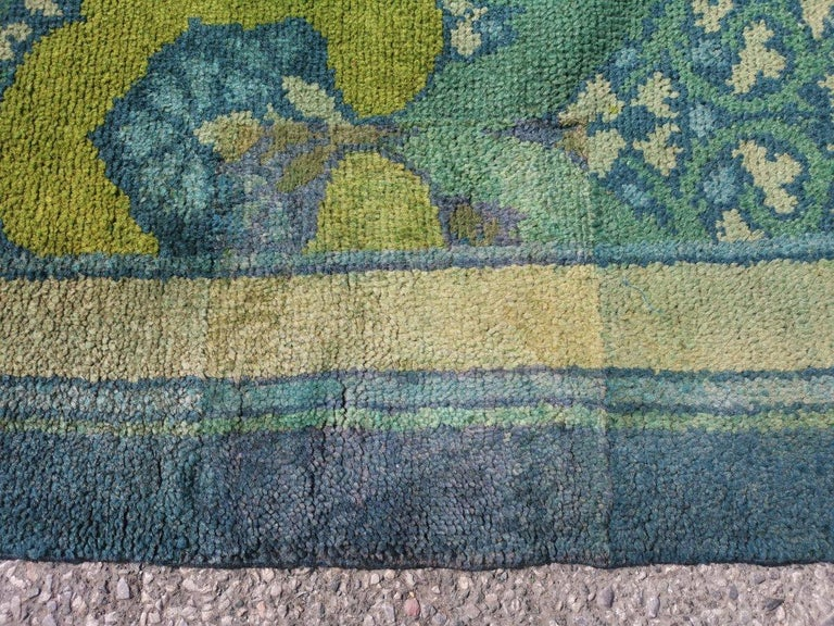 C F A Voysey for Liberty & Co. a Rare 'Glenmure' Donegal Rug with Rich Colors For Sale 9