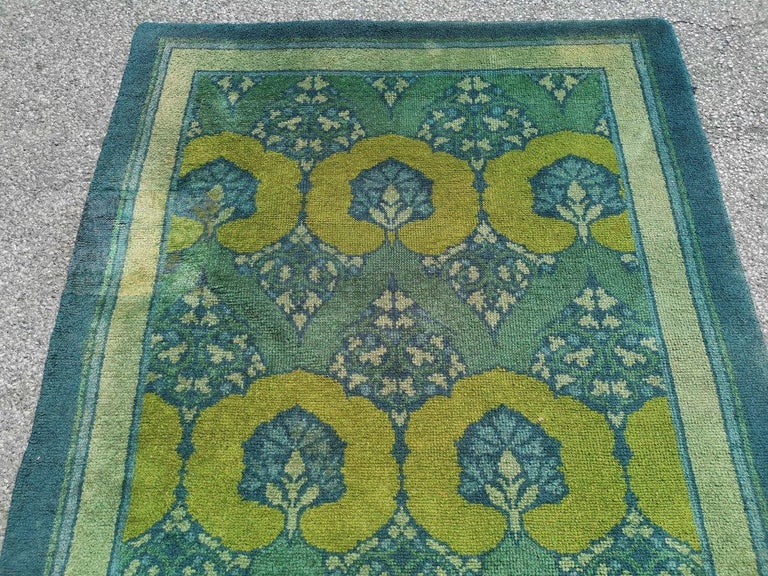 Arts and Crafts C F A Voysey for Liberty & Co. a Rare 'Glenmure' Donegal Rug with Rich Colors For Sale