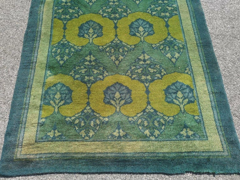 English C F A Voysey for Liberty & Co. a Rare 'Glenmure' Donegal Rug with Rich Colors For Sale