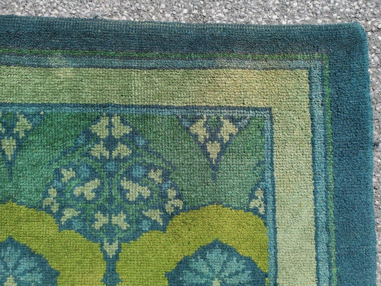 C F A Voysey for Liberty & Co. a Rare 'Glenmure' Donegal Rug with Rich Colors In Good Condition For Sale In London, GB