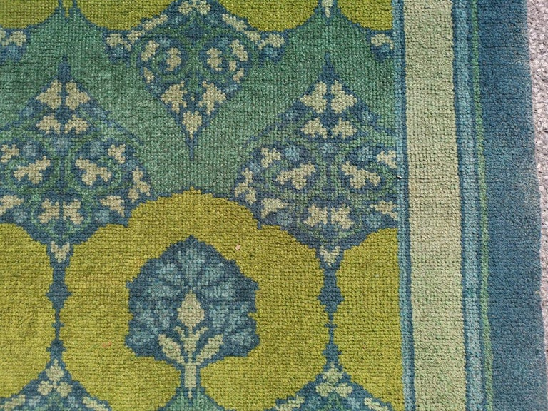 Wool C F A Voysey for Liberty & Co. a Rare 'Glenmure' Donegal Rug with Rich Colors For Sale
