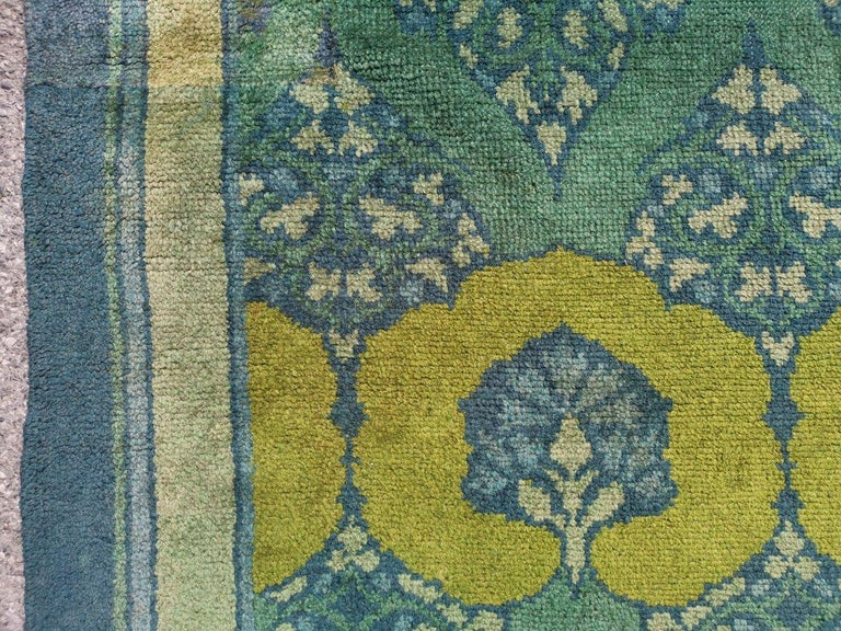 C F A Voysey for Liberty & Co. a Rare 'Glenmure' Donegal Rug with Rich Colors For Sale 1