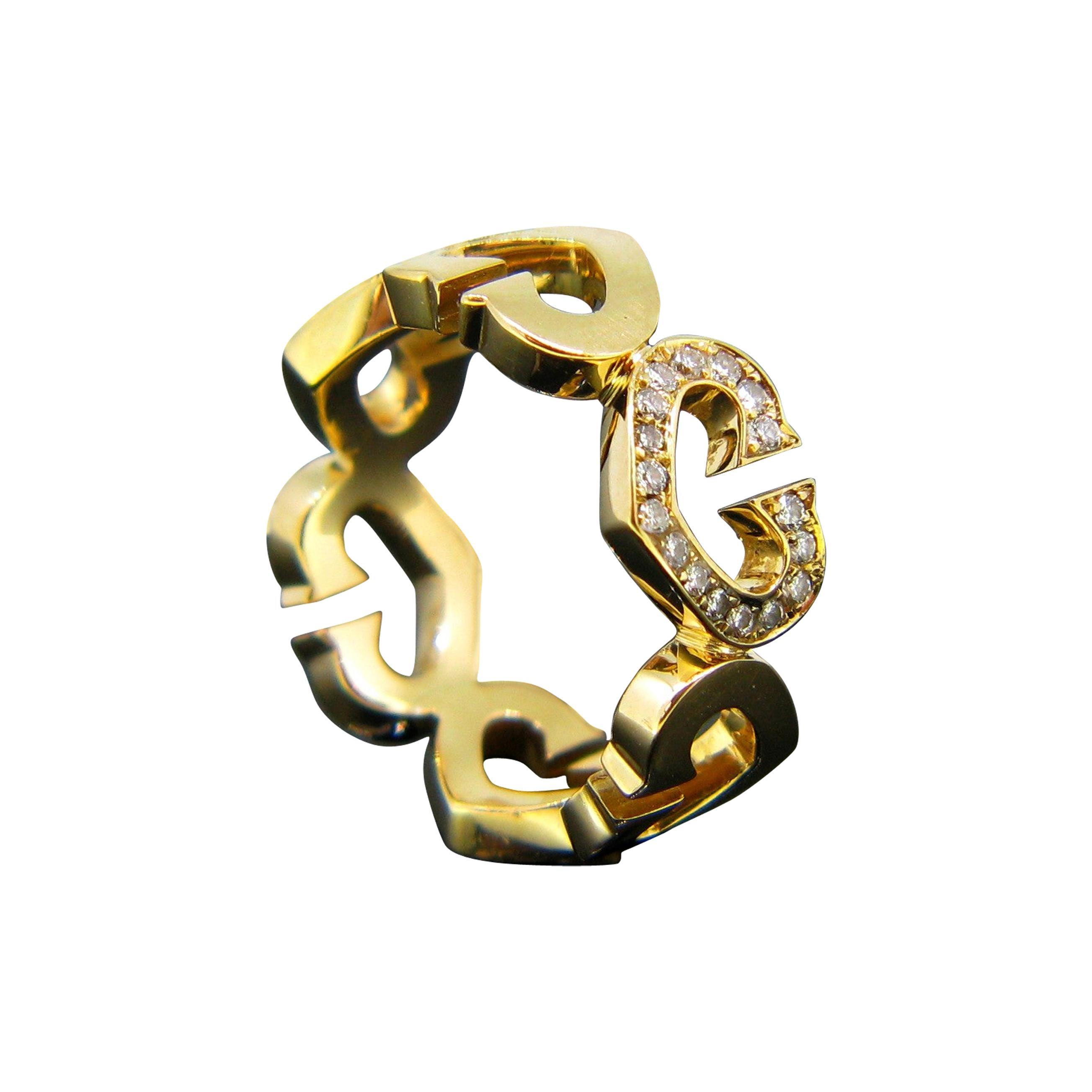 C Heart of Cartier Yellow Gold Diamonds Band Ring