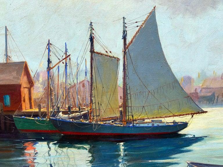 """Gloucester Harbor"" - Painting by C. Hjalmar Amundsen"