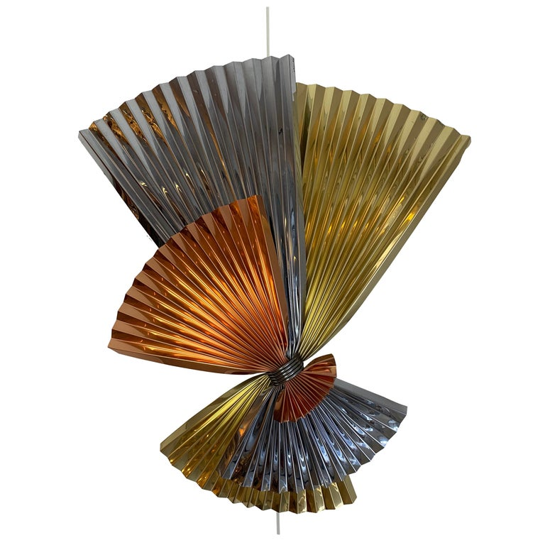 C Jere Abstract Metal Wall Sculpture For Sale