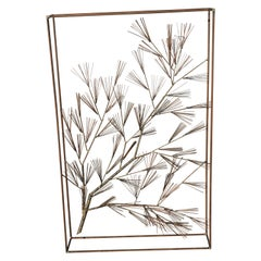 C. Jere Abstract Tree Wall Sculpture in Frame