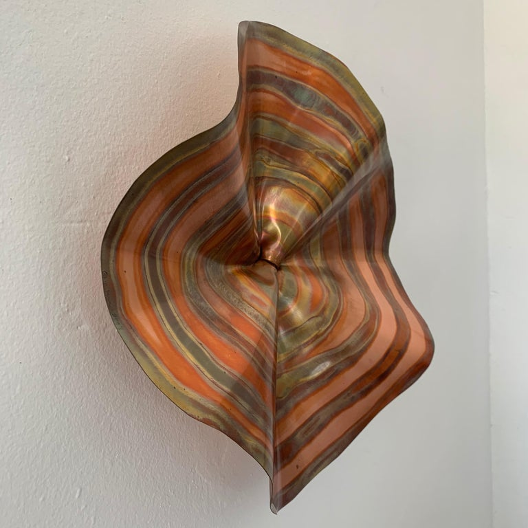 Mid-Century Modern C. Jere Acid and Torch Etched Copper Wall Sculpture, 2003, USA For Sale