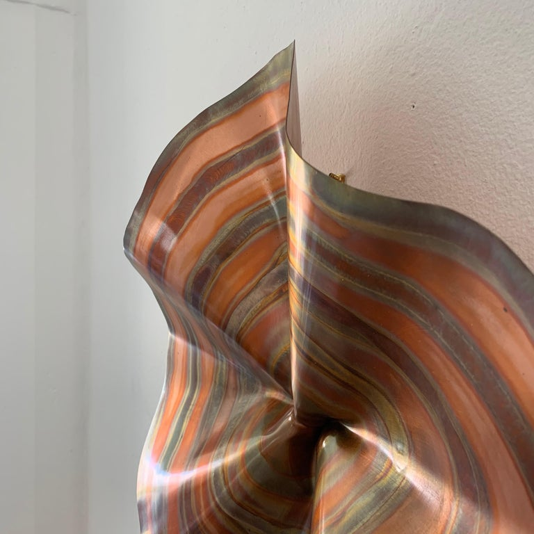 C. Jere Acid and Torch Etched Copper Wall Sculpture, 2003, USA In Good Condition For Sale In Miami, FL