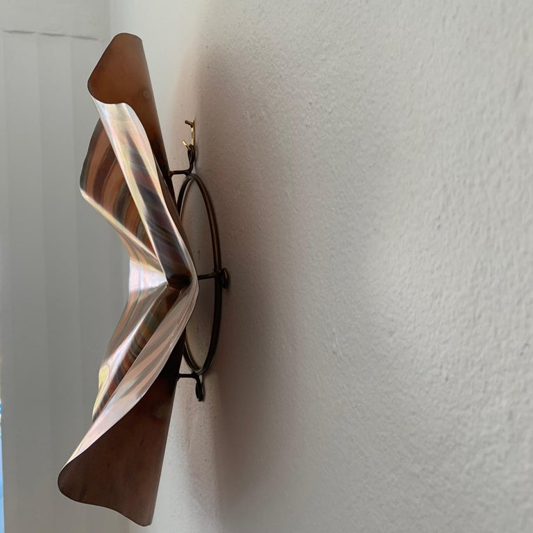 20th Century C. Jere Acid and Torch Etched Copper Wall Sculpture, 2003, USA For Sale