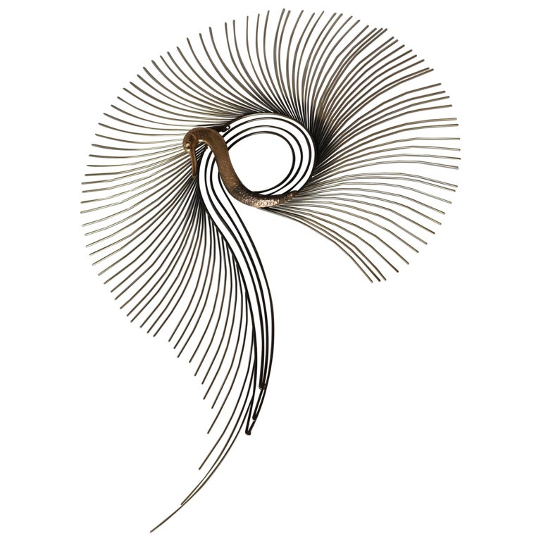 C. Jeré Brass Swan Wall Sculpture by Artisan House Inc. For Sale
