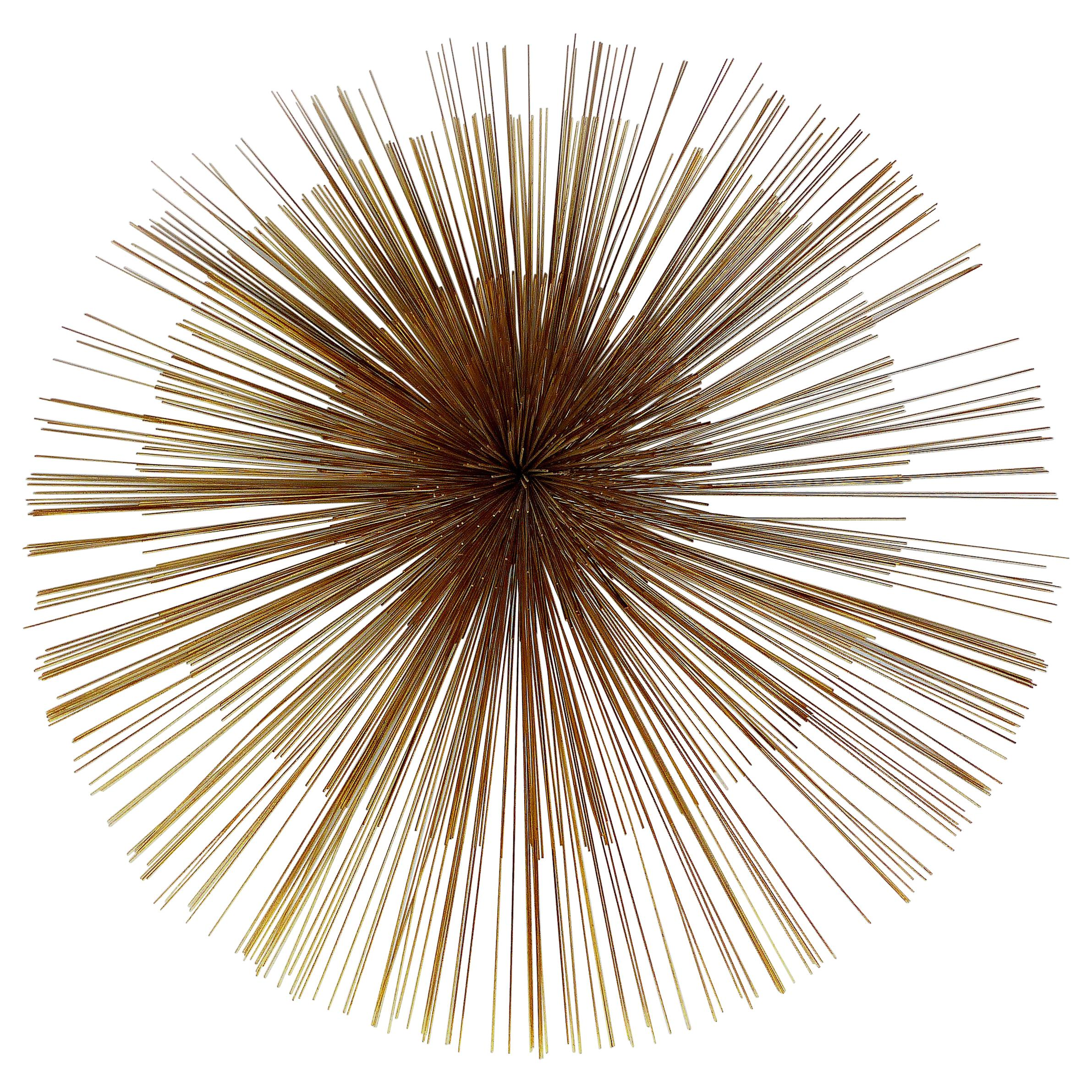 C. Jere Large Pinwheel/Pom Pom Wall Sculpture Signed, Dated 1982