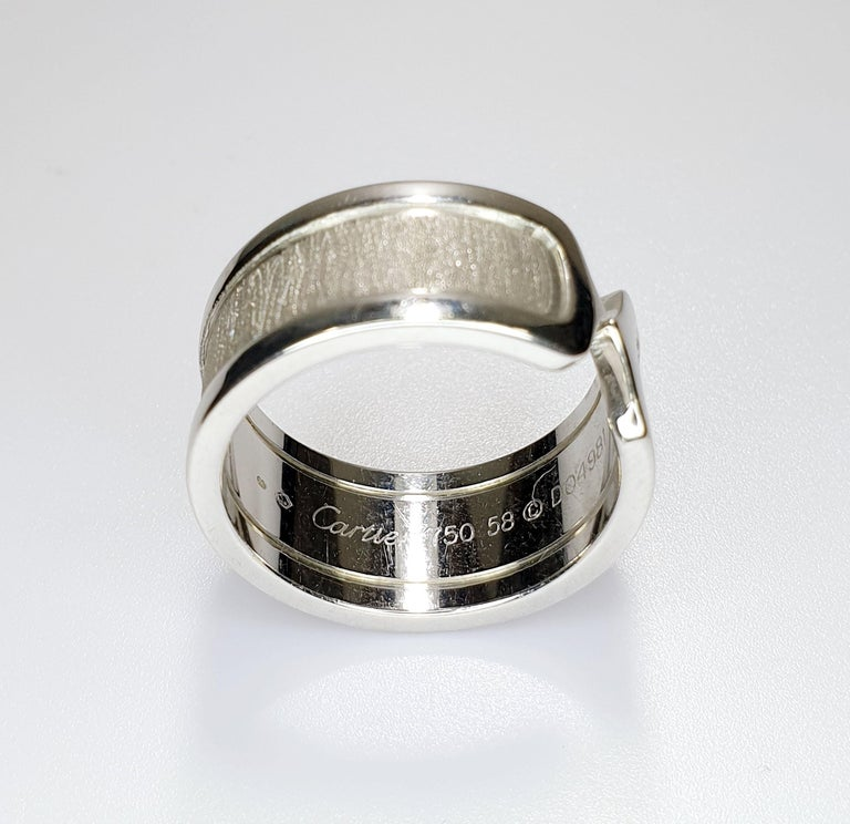 Contemporary C of Cartier Statement Ring For Sale