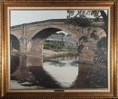 C. Stone - Large 20th Century Oil, Ribchester Bridge, Lancashire