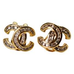 C-Style Yellow Gold Diamond Earrings