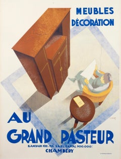 """Au Grand Pasteur"" Original Vintage Furniture Poster"