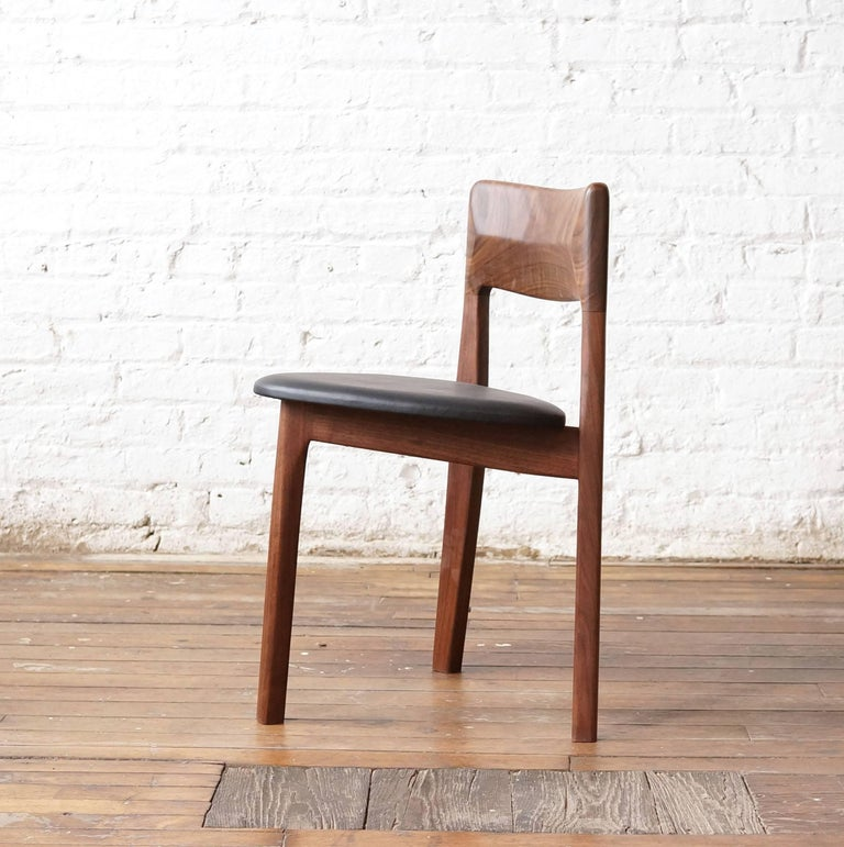 C11 Three-Legged Dining Chair, Handcrafted in Solid Black ...