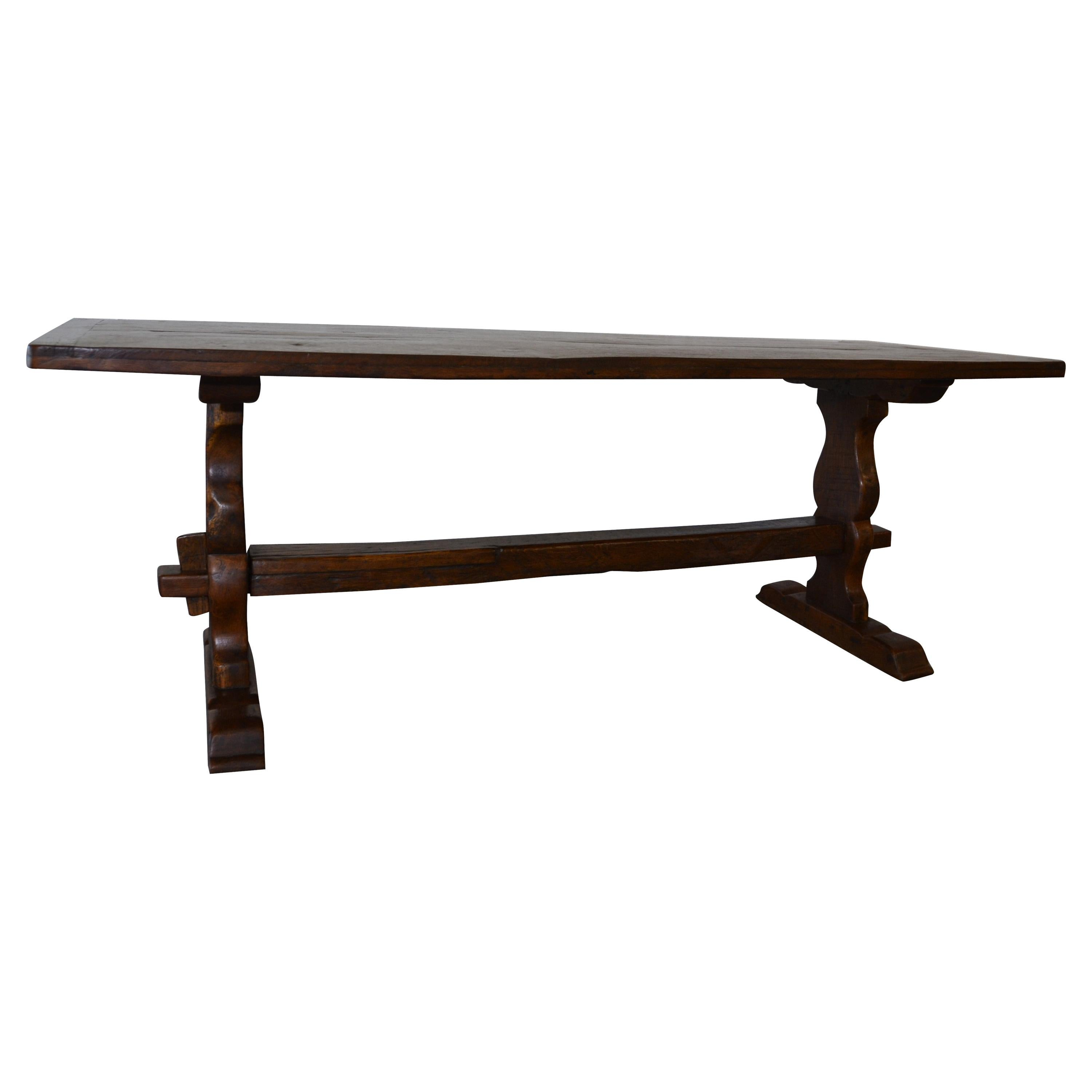 """c1720 Refectory Table in the """"Trestle"""" Style"""