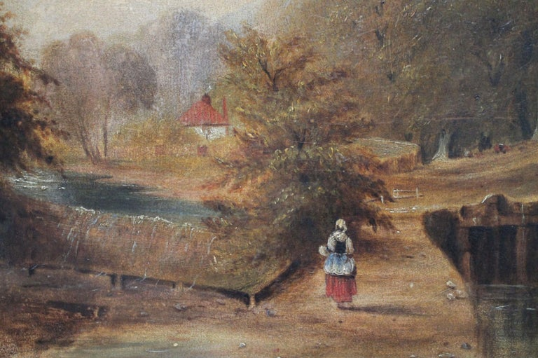European Roberson and Miller Oil on Canvas, circa 1835 For Sale