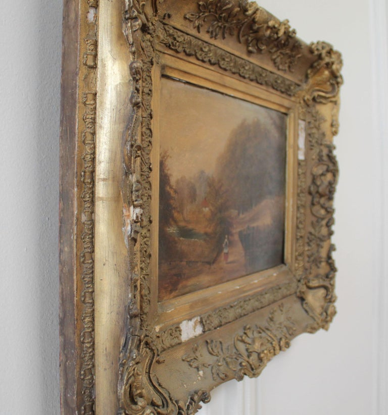 Roberson and Miller Oil on Canvas, circa 1835 For Sale 1