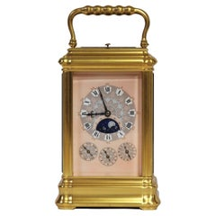 c.1875 French Gilt-Bronze Grand-Sonnerie Multi-Dial Carriage Clock