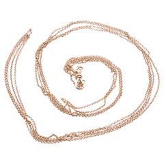 C.1880 15ct Belcher Link Chain with Threaded Dog Clip