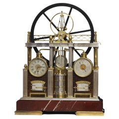c.1895 Automated Steam Engine Industrial Clock