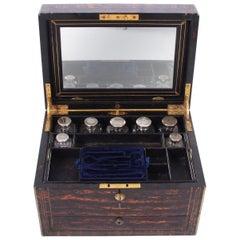 Coromandel and Blue Velvet Vanity Box by Asprey of London, circa 1900