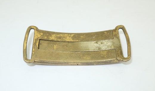 C.1920 Brass Dragon Interlocking Slide Belt Buckle