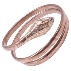 C1940's 12K Gold Filled Forstner Snake Bracelet