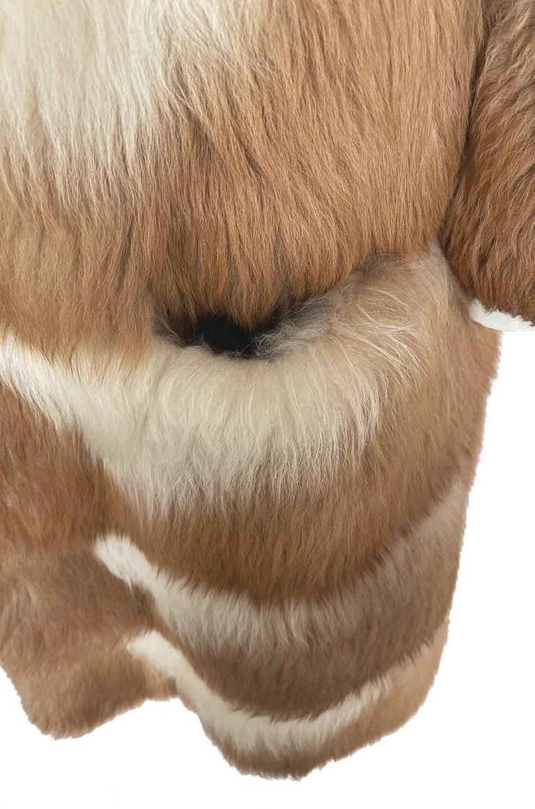 c.1968- 1972 Christian Dior Shaggy Two Toned Sheepskin Fur Coat For Sale 7