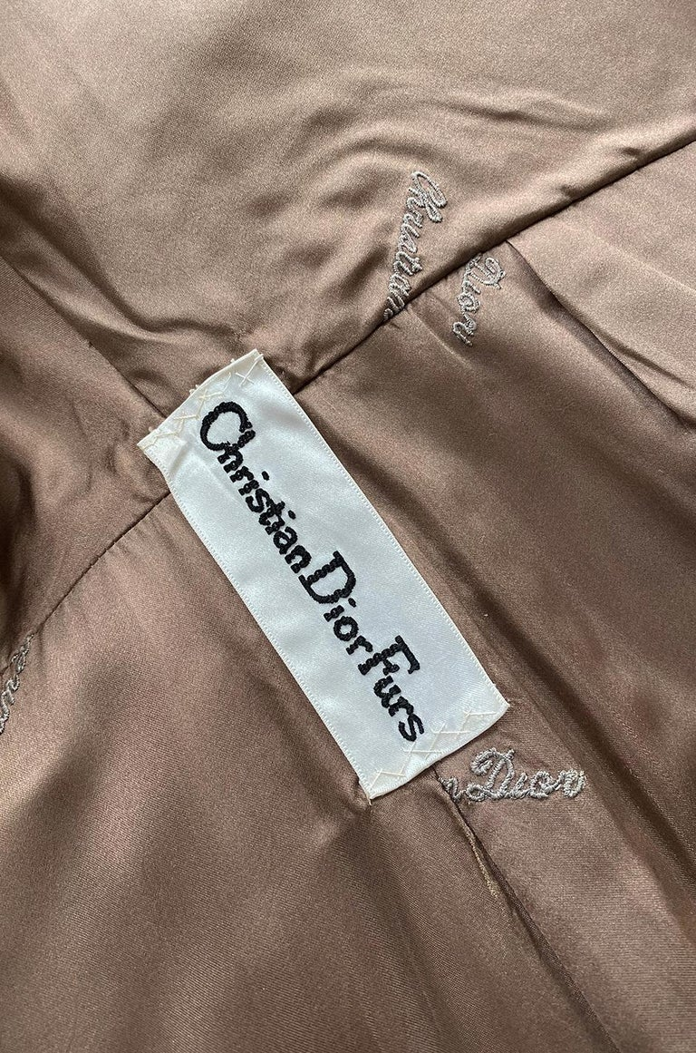 c.1968- 1972 Christian Dior Shaggy Two Toned Sheepskin Fur Coat For Sale 9