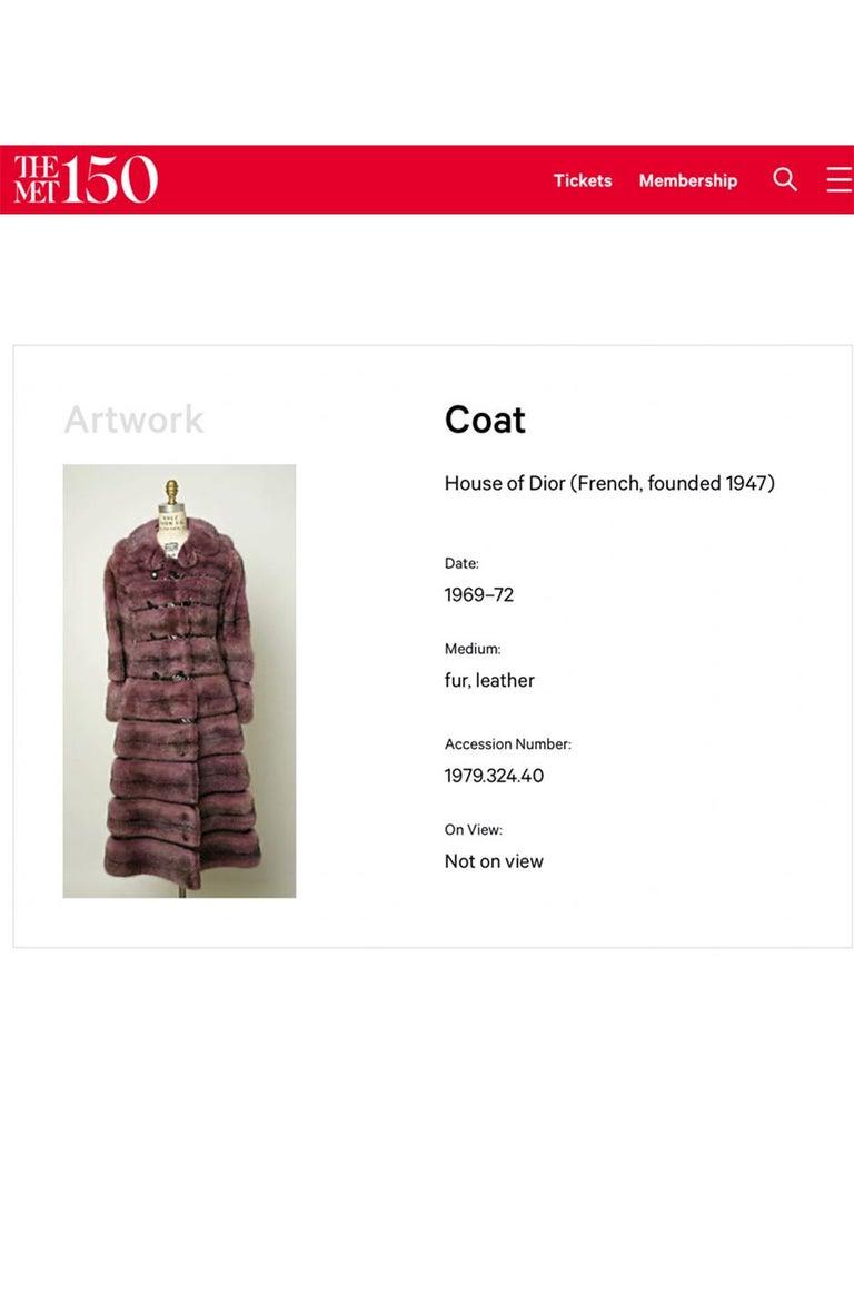 c.1968- 1972 Christian Dior Shaggy Two Toned Sheepskin Fur Coat For Sale 11