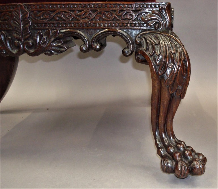 19th Century Anglo Indian Carved Padouk Side Chair For Sale 5
