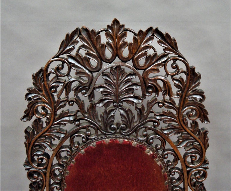 19th Century Anglo Indian Carved Padouk Side Chair For Sale 10